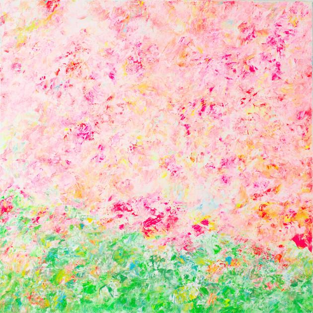 それを花々として彩を描く